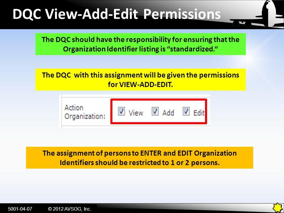 DQC View-Add-Edit Permissions