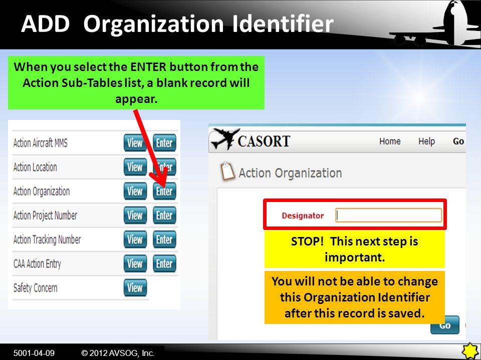 ADD Organization Identifier