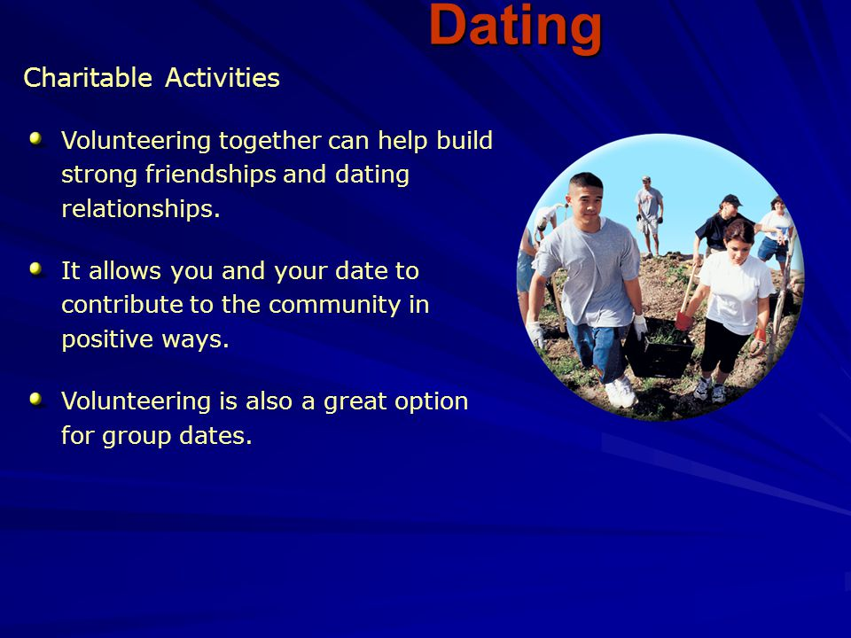 Dating Charitable Activities