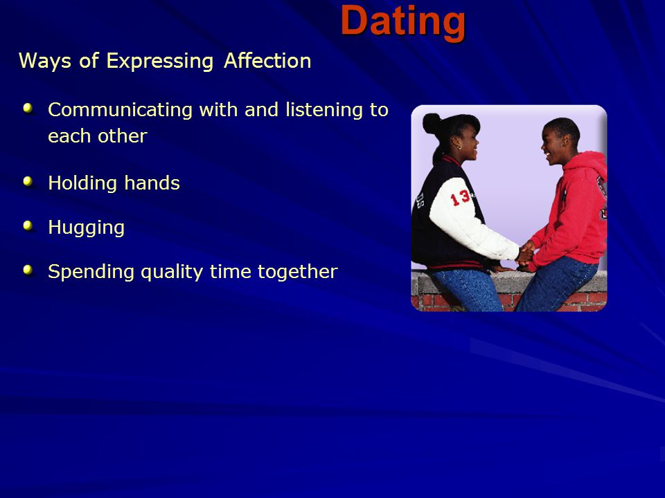 Dating Ways of Expressing Affection