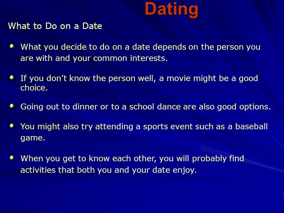 Dating What to Do on a Date