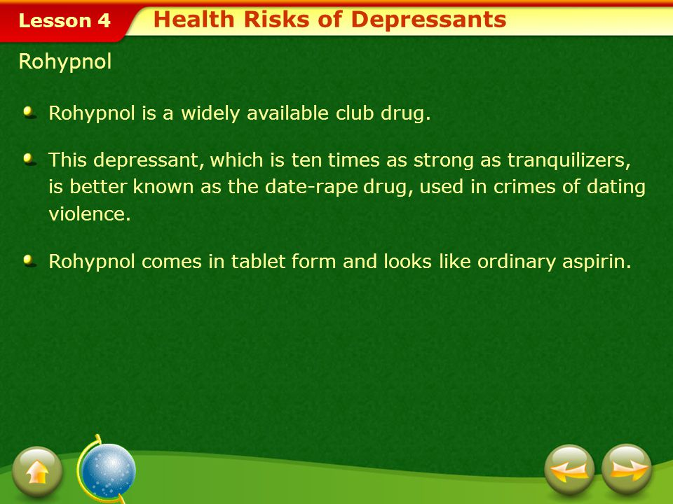 Health Risks of Depressants