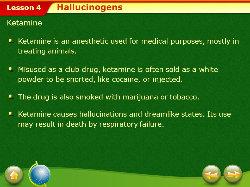 Hallucinogens Ketamine