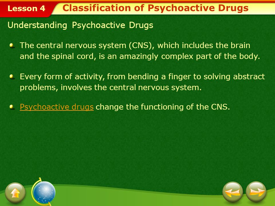Classification of Psychoactive Drugs