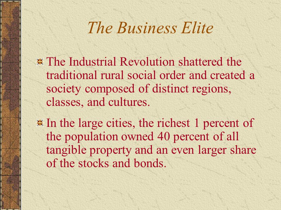 The Business Elite