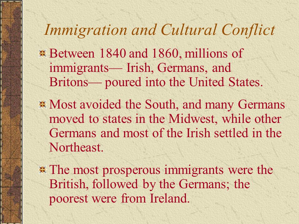 Immigration and Cultural Conflict