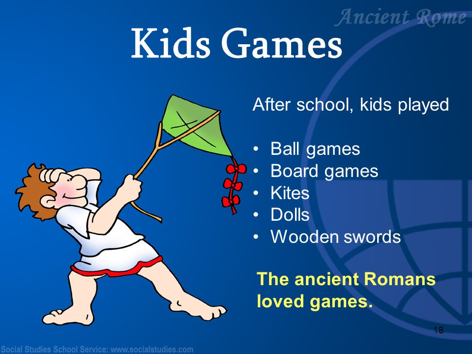Kids Games After school, kids played Ball games Board games Kites