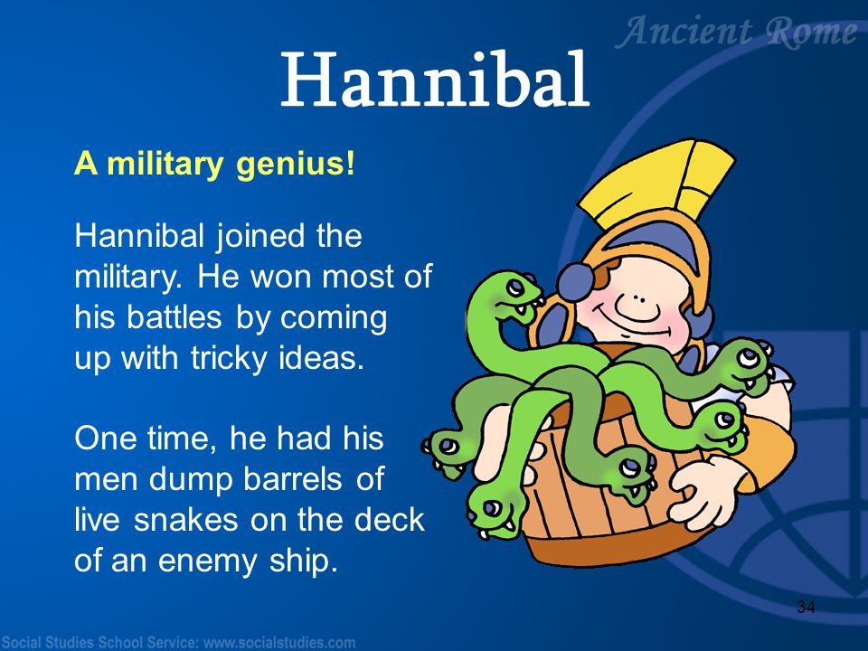 Hannibal A military genius!
