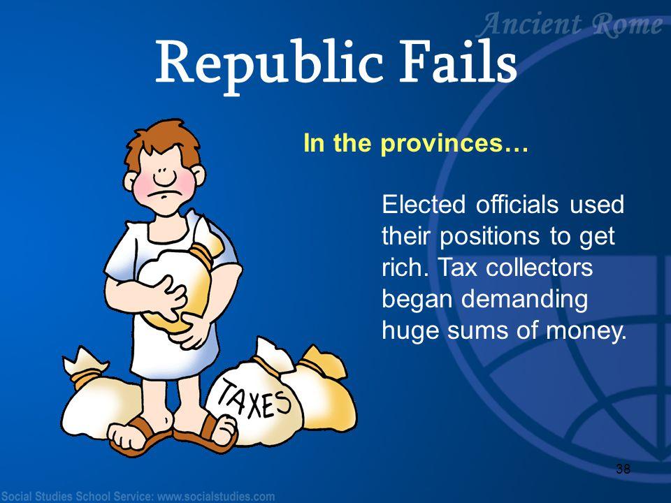 Republic Fails In the provinces…