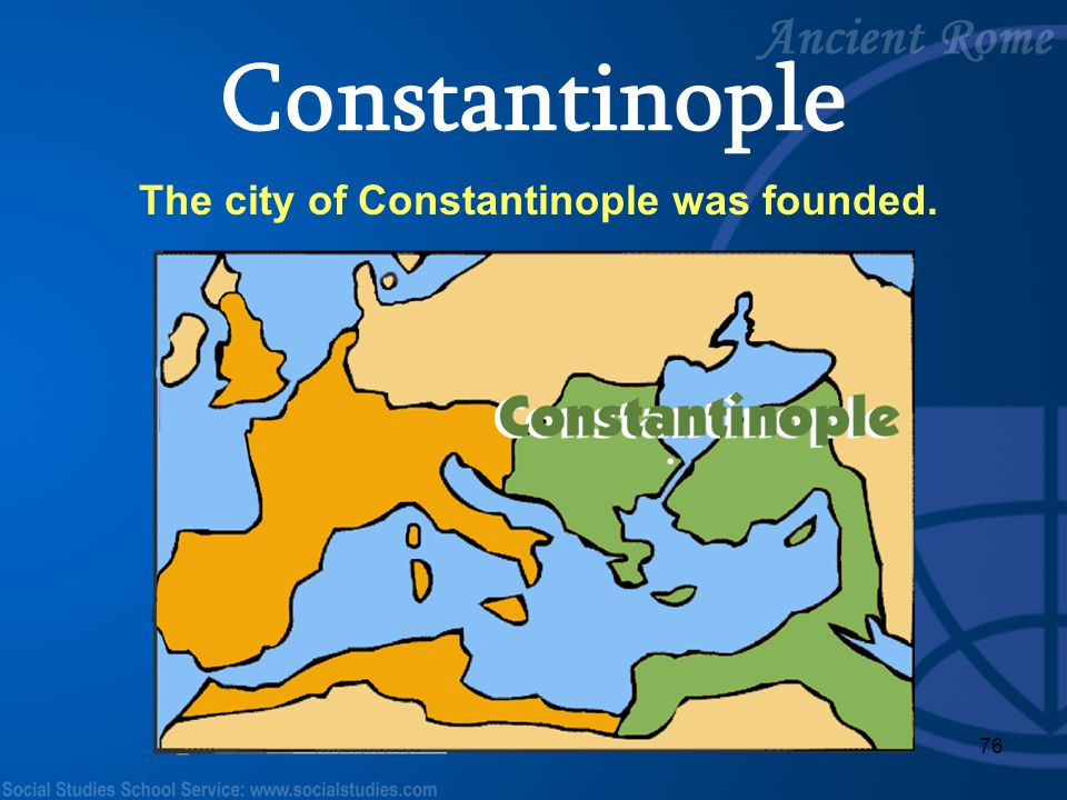 The city of Constantinople was founded.