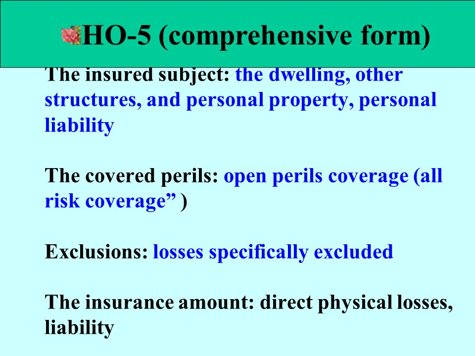 HO-5 (comprehensive form)