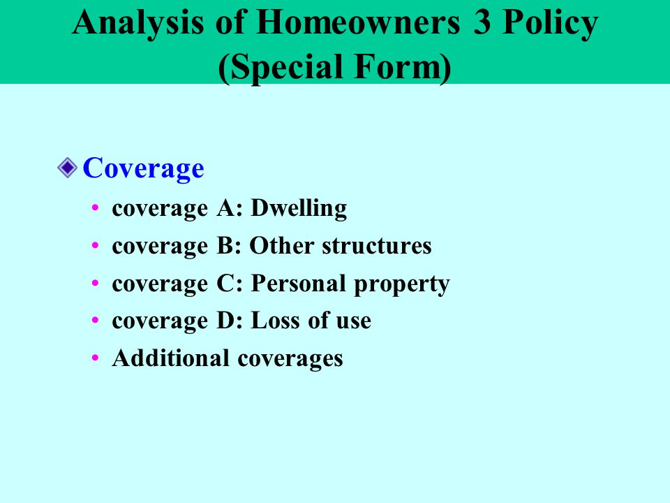 Lecture Ten: Homeowners Insurance Ppt Video Online Download