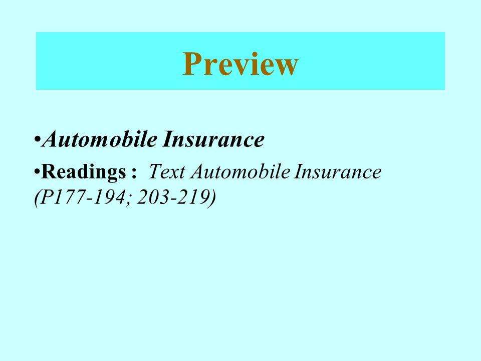 Preview Automobile Insurance