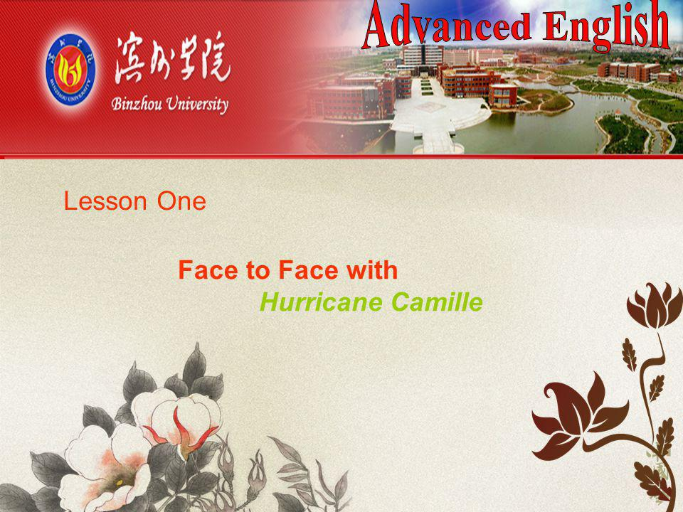Advanced English Lesson One Face to Face with Hurricane Camille