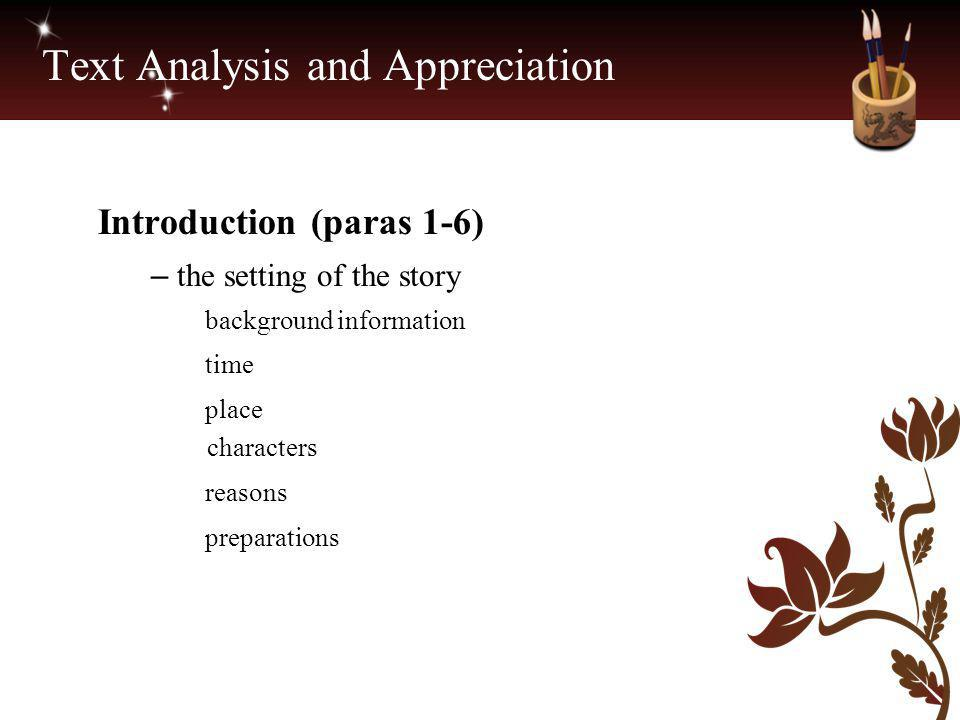 Text Analysis and Appreciation