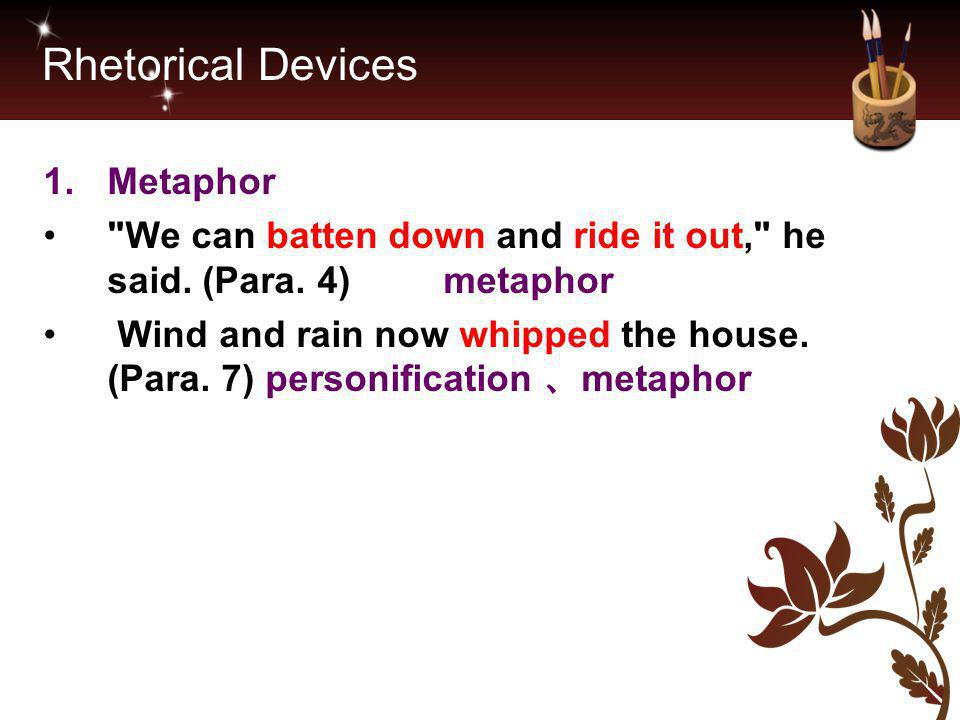 Rhetorical Devices Metaphor