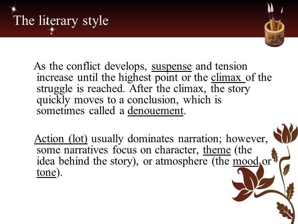 The literary style