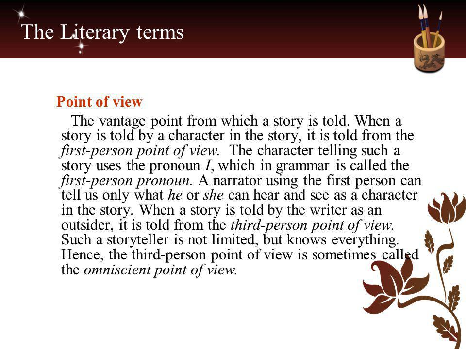 The Literary terms Point of view