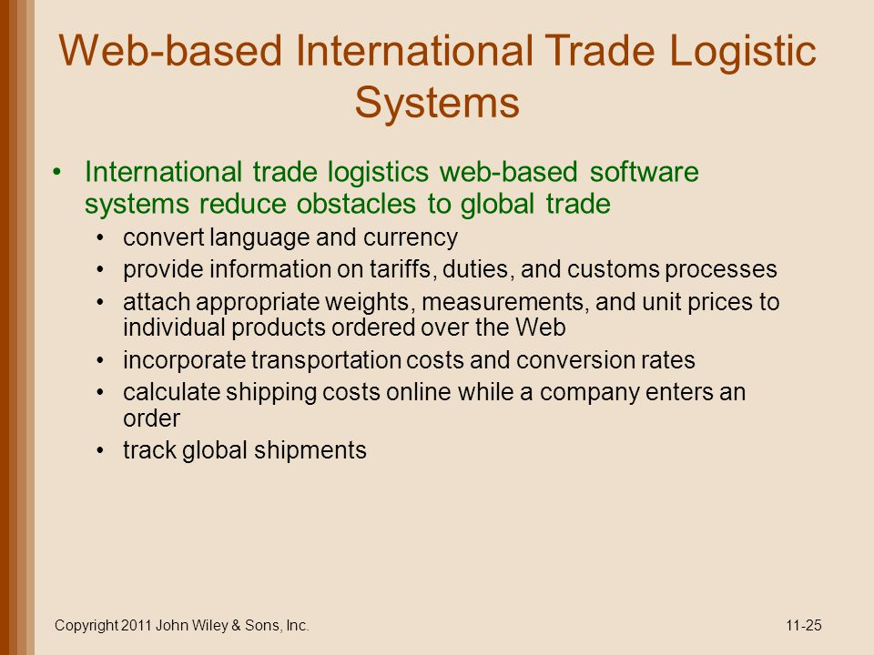 Web-based International Trade Logistic Systems
