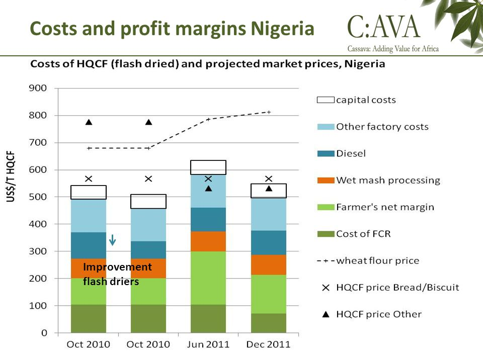 Costs and profit margins Nigeria