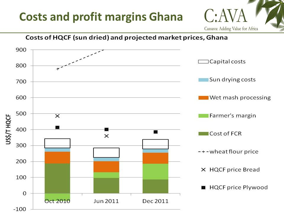 Costs and profit margins Ghana