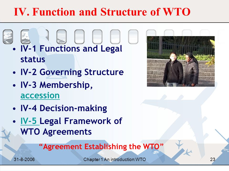 IV. Function and Structure of WTO