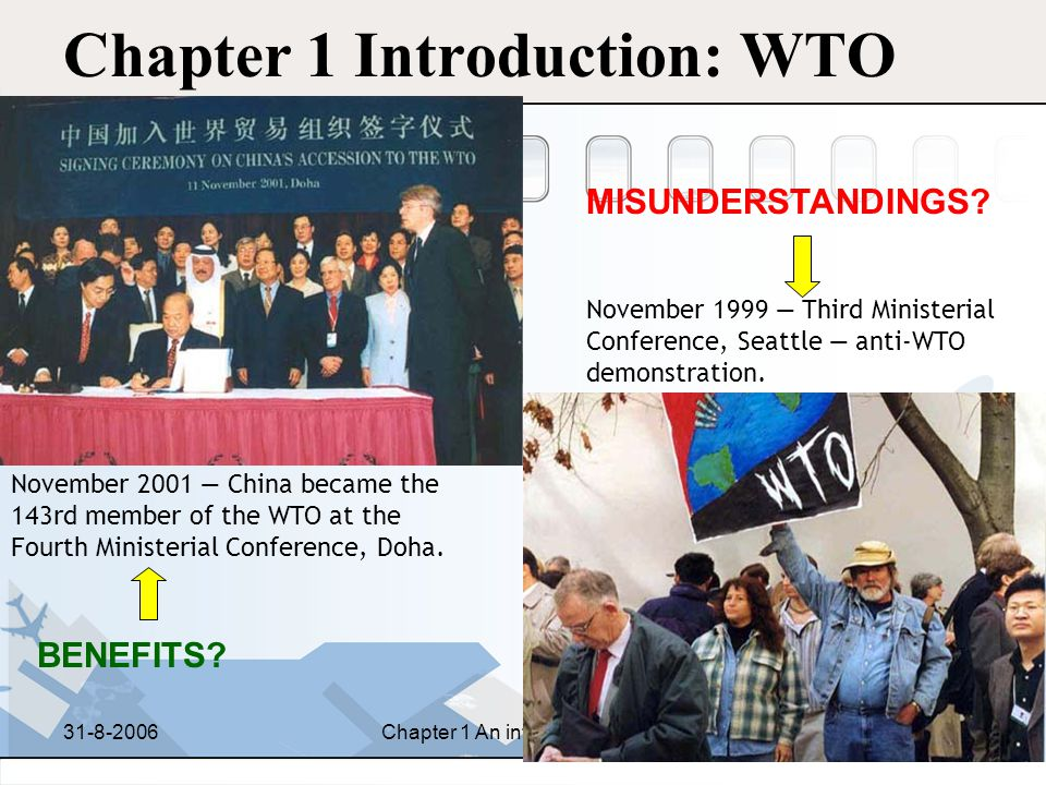 Chapter 1 Introduction: WTO