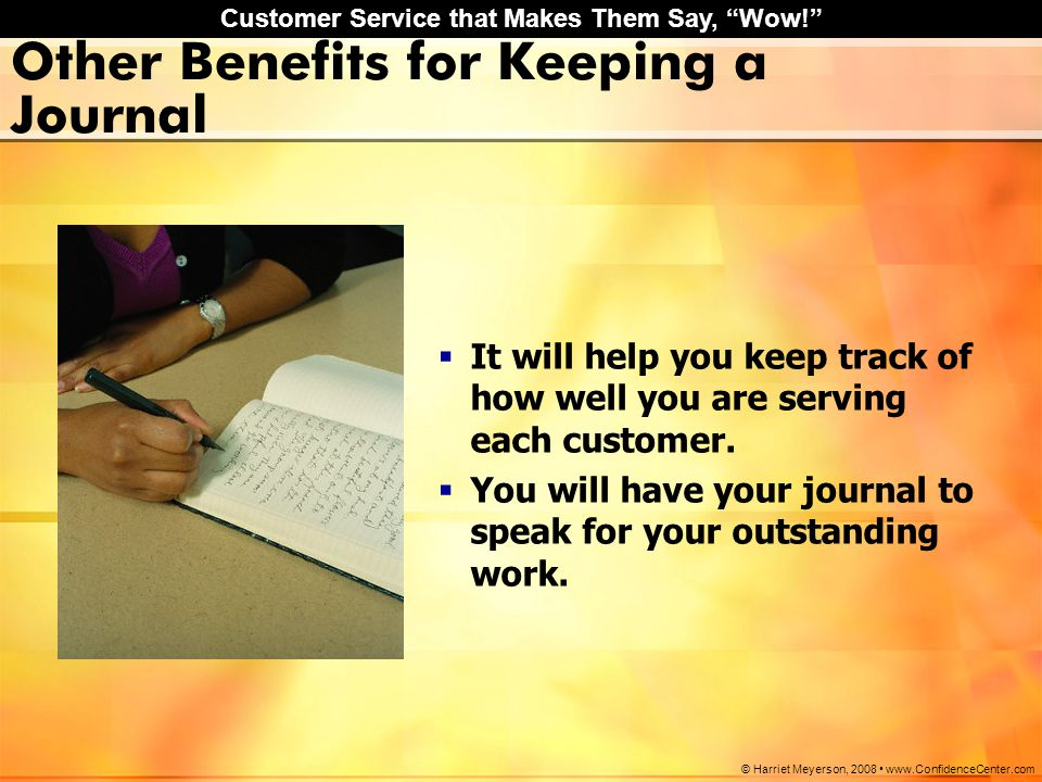 Other Benefits for Keeping a Journal