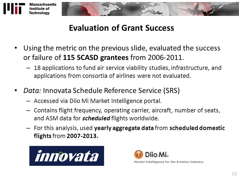 Evaluation of Grant Success
