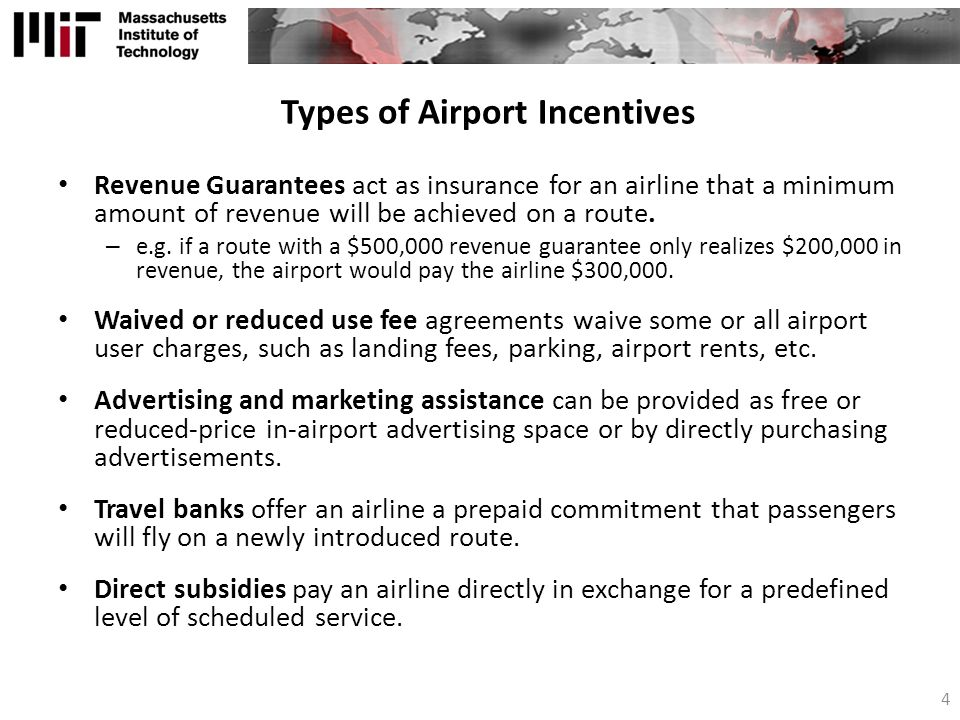 Types of Airport Incentives