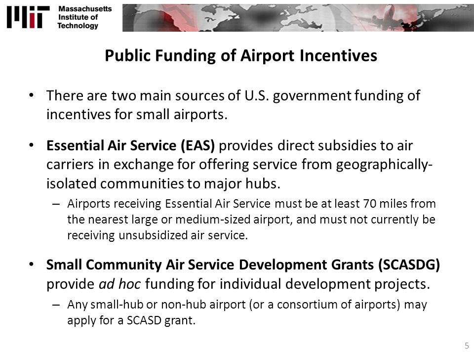 Public Funding of Airport Incentives
