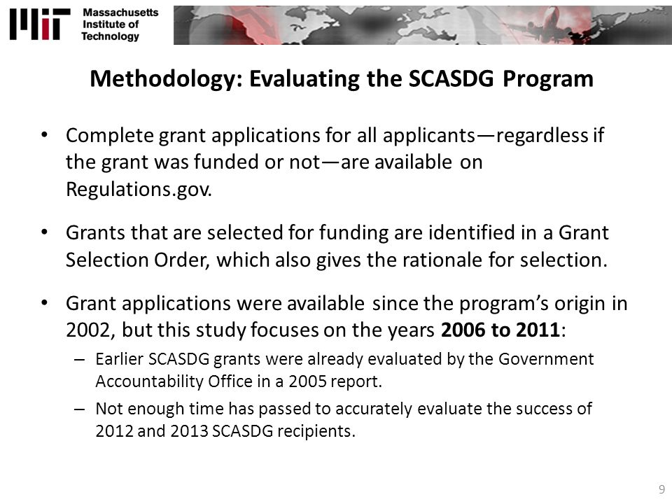 Methodology: Evaluating the SCASDG Program