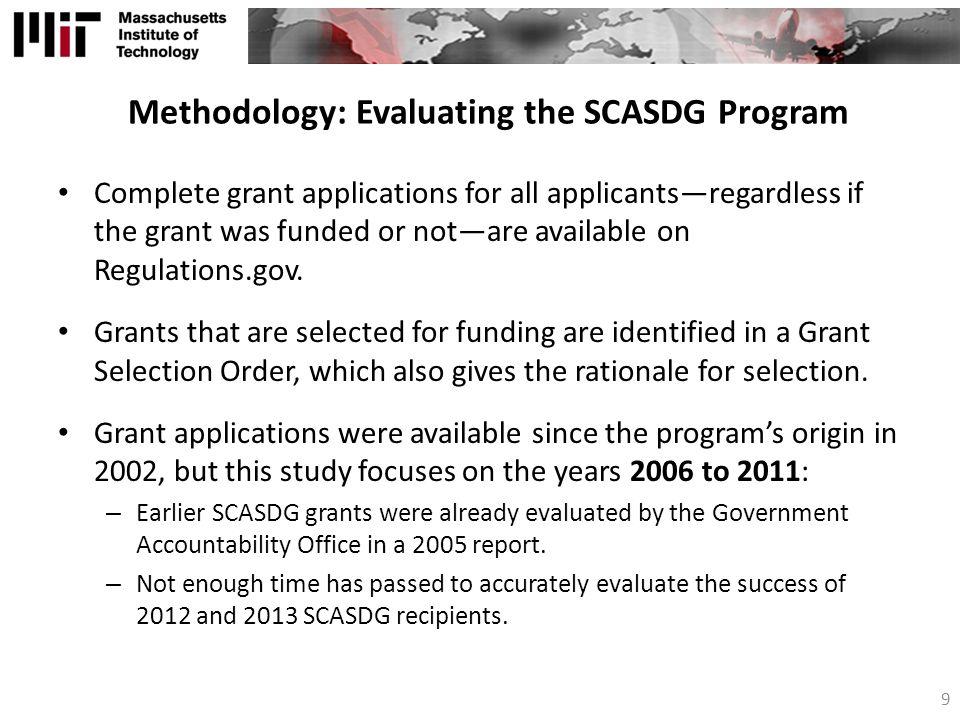 Methodology: Evaluating the SCASDG Program