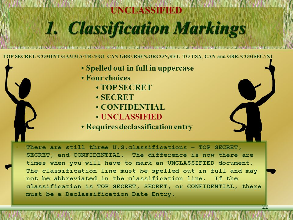 1. Classification Markings