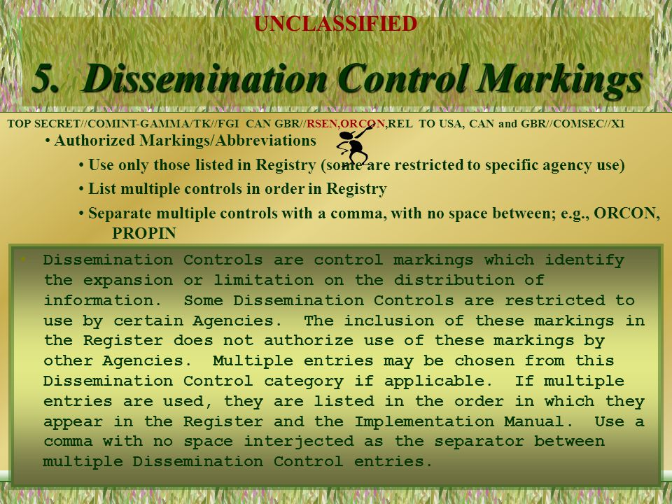 5. Dissemination Control Markings