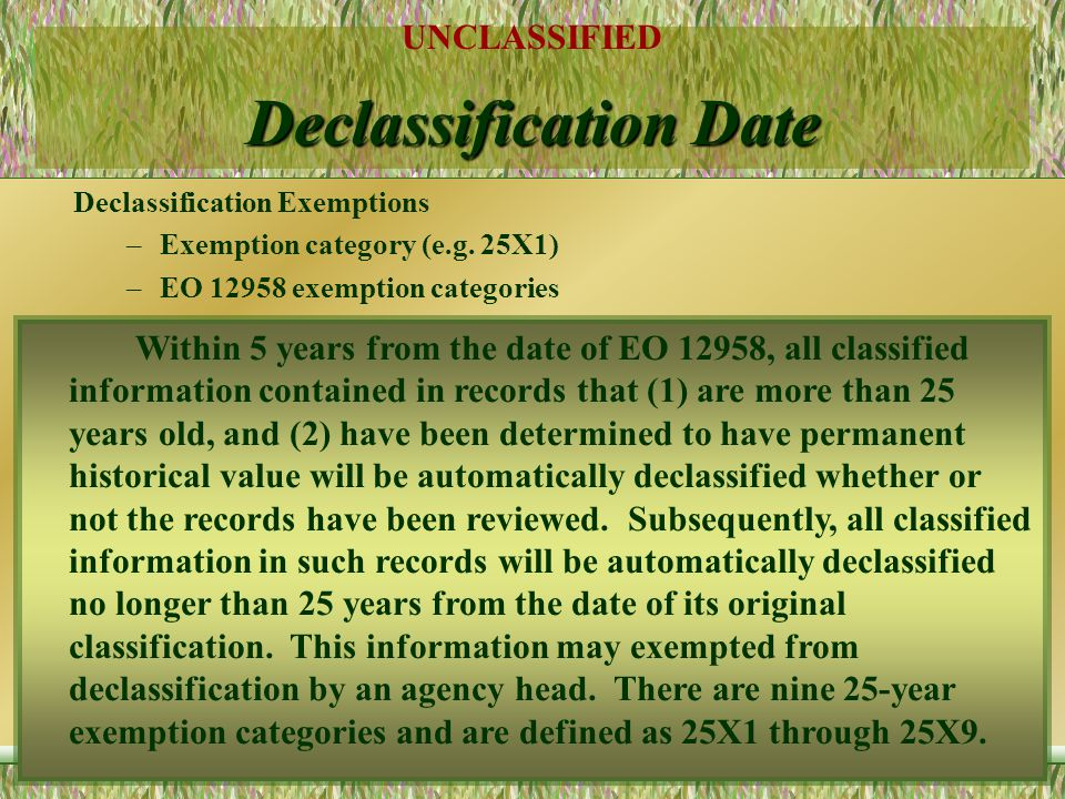 Declassification Date