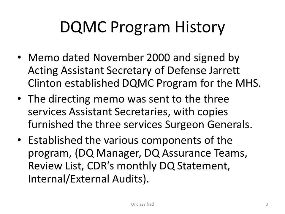 DQMC Program History