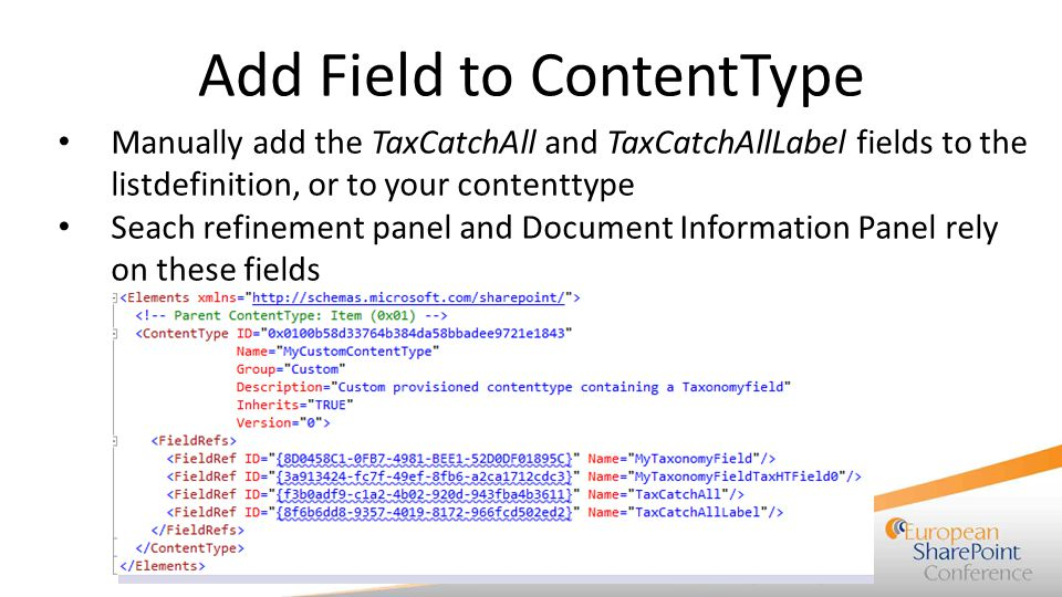 Add Field to ContentType
