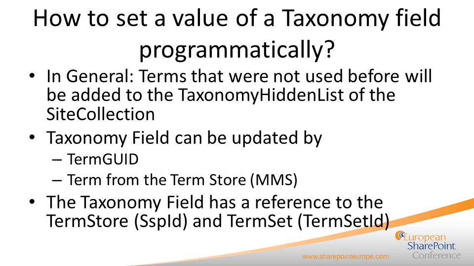 How to set a value of a Taxonomy field programmatically