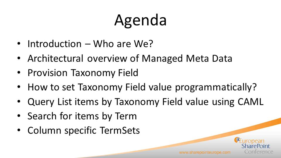 Agenda Introduction – Who are We
