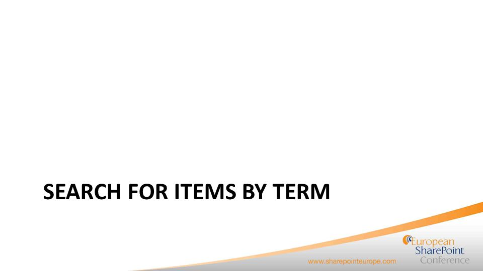 Search for items by term