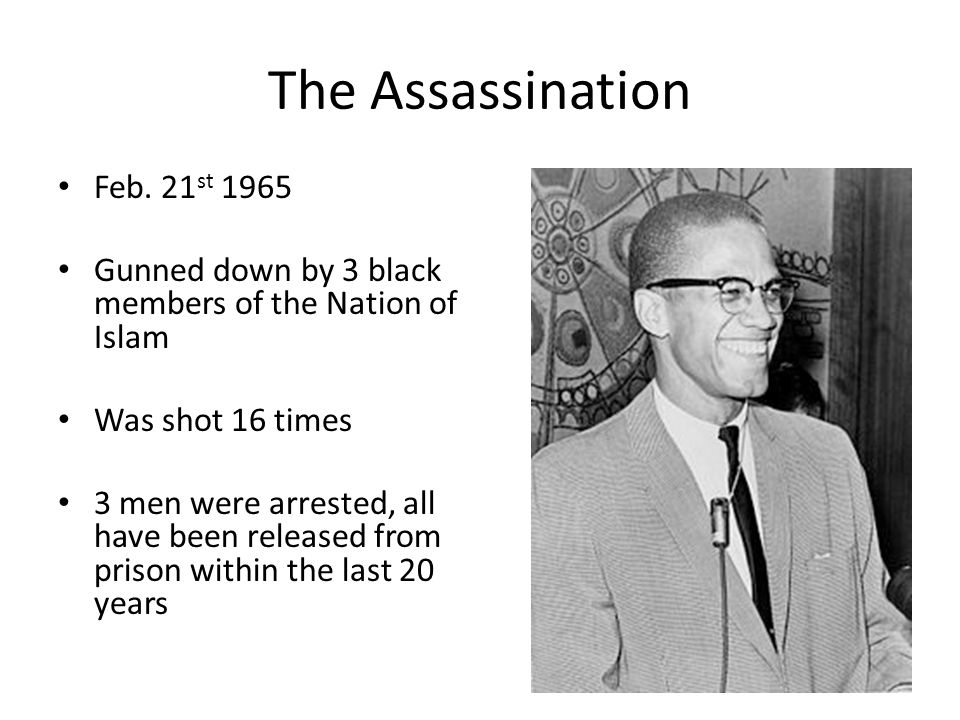 The Assassination Feb. 21st 1965