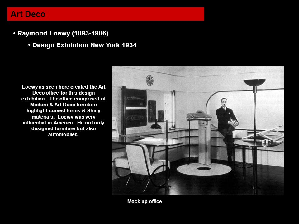 Art Deco Raymond Loewy (1893-1986) Design Exhibition New York 1934