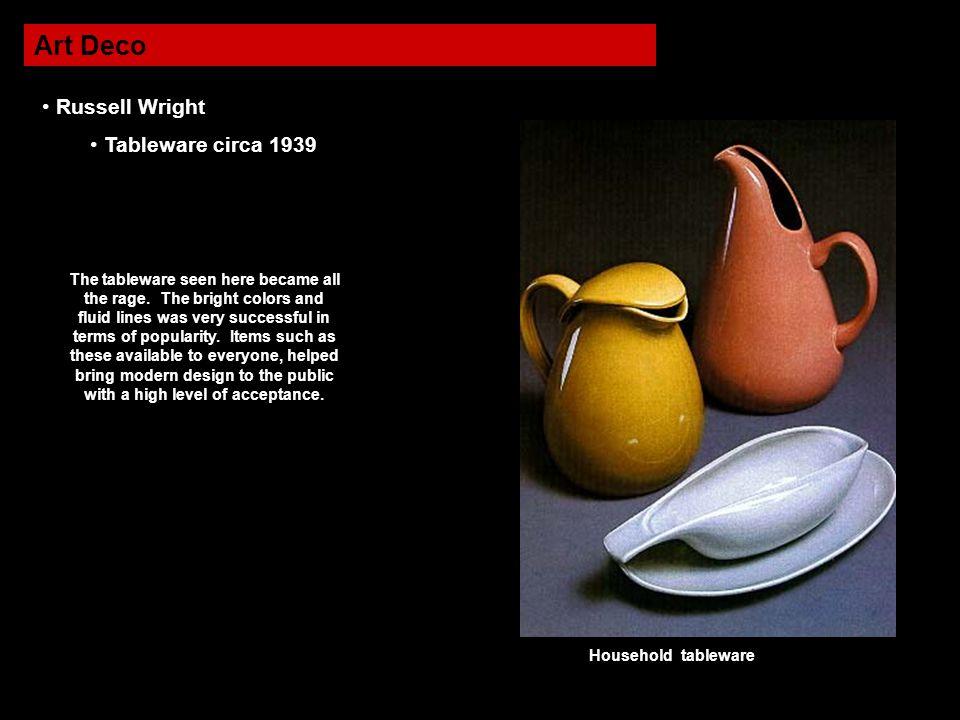 Art Deco Russell Wright Tableware circa 1939