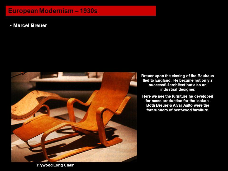European Modernism – 1930s Marcel Breuer