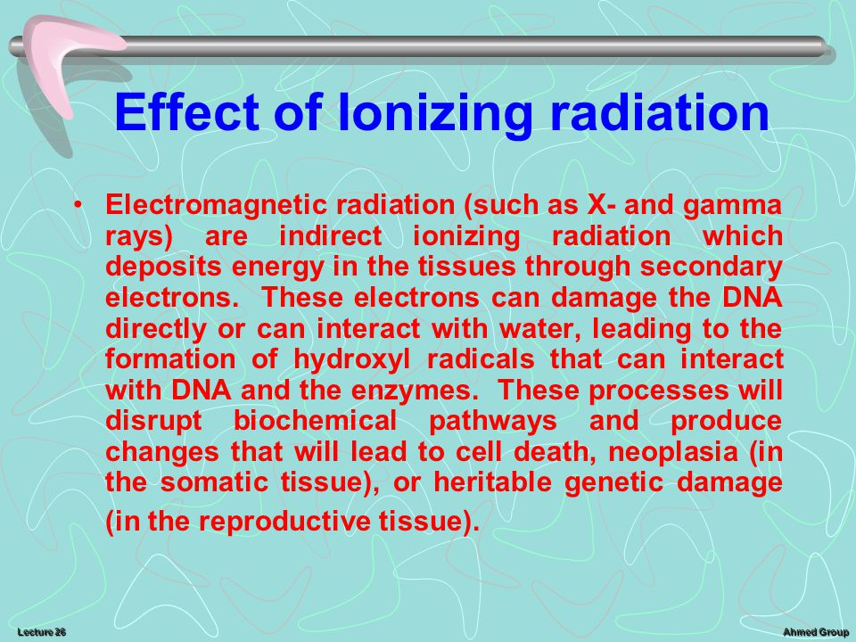 Effect of Ionizing radiation
