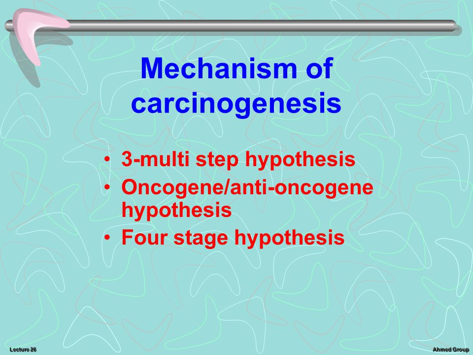 Mechanism of carcinogenesis
