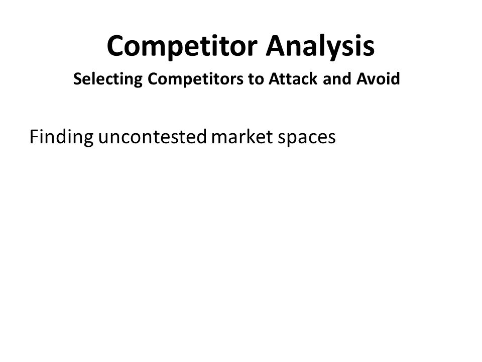 Selecting Competitors to Attack and Avoid