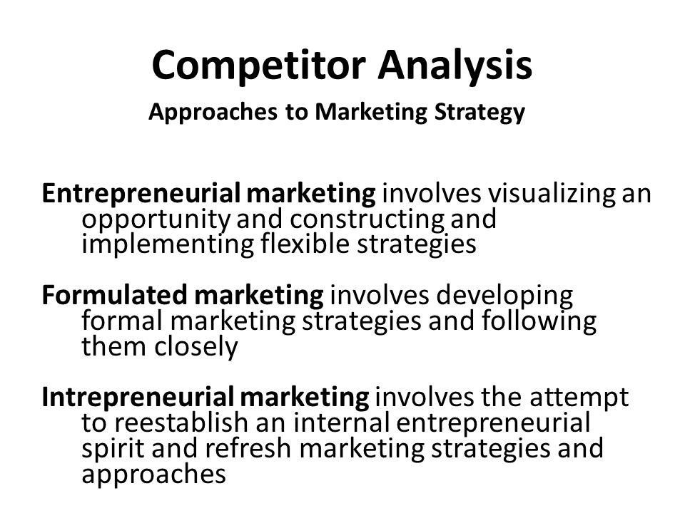 Approaches to Marketing Strategy