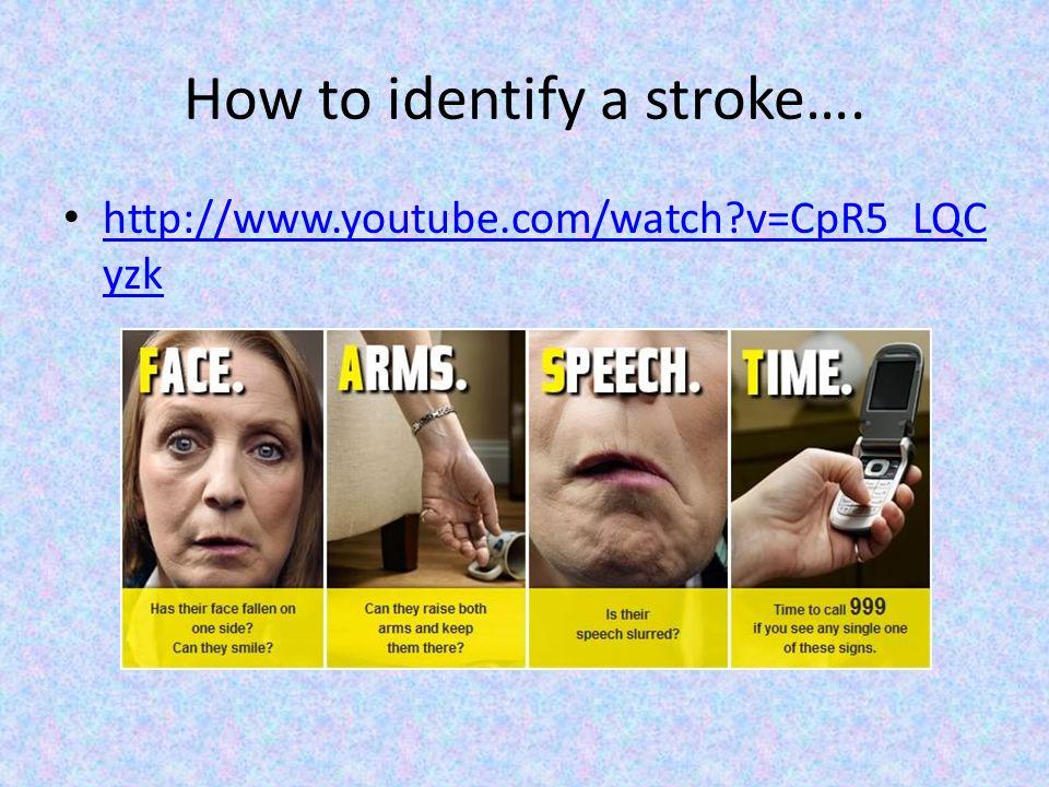 How to identify a stroke….